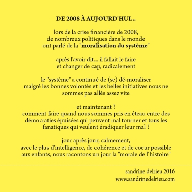 La morale de l'histoire ©S.Delrieu2016